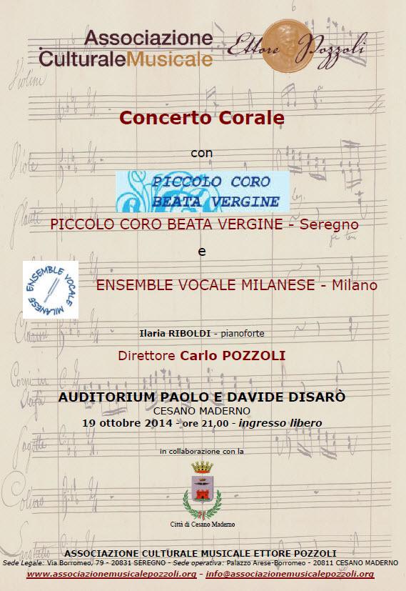 I concerti dell\'anno 2014 - Ensemble Vocale Milanese